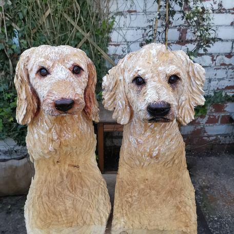 Cockapoos, All my dog carvings are personalised copies