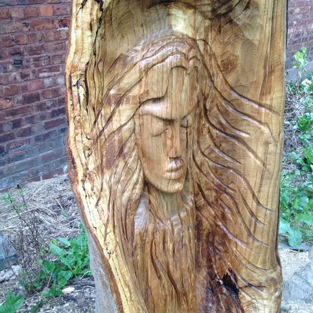 Tree spirit carving