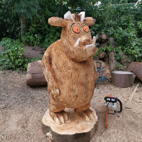 5ft gruffalo i carved