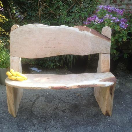 Beautiful Oak Bench carving