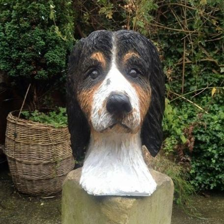 Dogs head carving