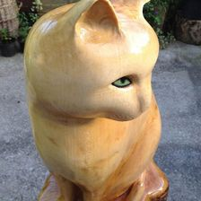 Cat carving