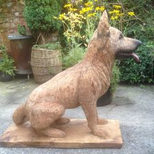 German Shepard, oak