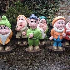 Seven dwarfs, 2ft tall